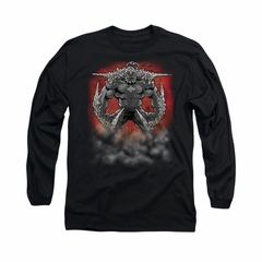 Superman Shirt Doomsday Dust Long Sleeve Black Tee T-Shirt