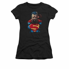 Superman Shirt Juniors Angry Black T-Shirt