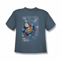 Superman Shirt Kids No.419 Slate T-Shirt