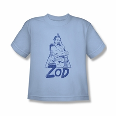 Superman Shirt Kids Zod Light Blue T-Shirt
