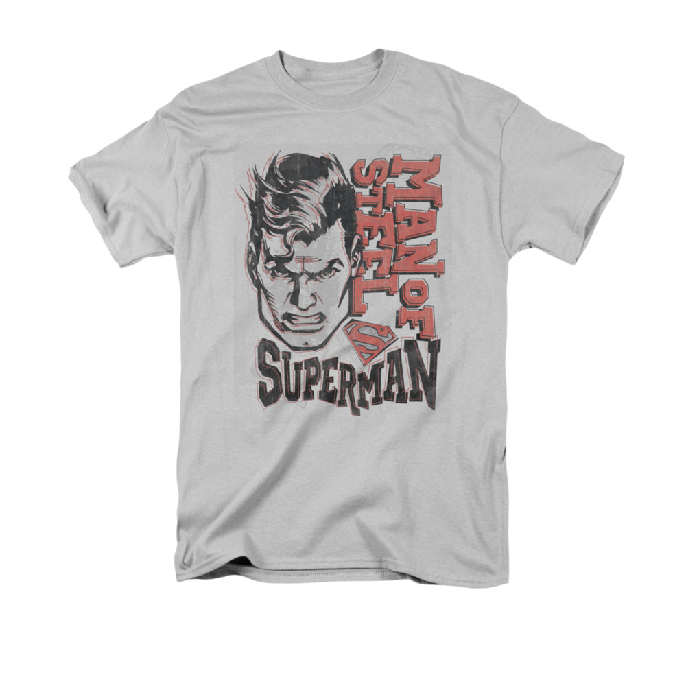superman shirt retro lines silver t shirt superman retro. Black Bedroom Furniture Sets. Home Design Ideas