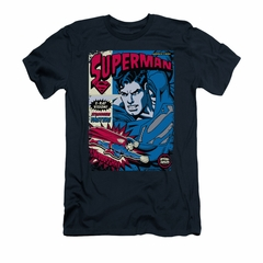 Superman Shirt Slim Fit Action Packed Navy T-Shirt