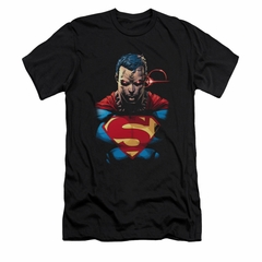 Superman Shirt Slim Fit Angry Black T-Shirt