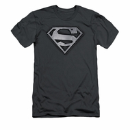 Superman Shirt Slim Fit Duct Tape Shield Charcoal T-Shirt