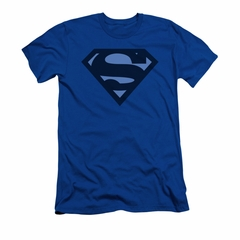 Superman Shirt Slim Fit Navy Shield Royal Blue T-Shirt