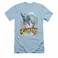 Superman Shirt Slim Fit Skyward Light Blue T-Shirt
