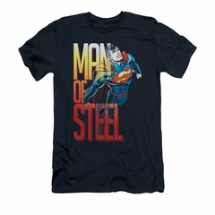 Superman Shirt Slim Fit Steel Flight Navy T-Shirt