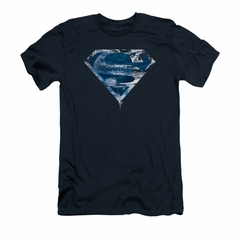 Superman Shirt Slim Fit Water Shield Navy T-Shirt
