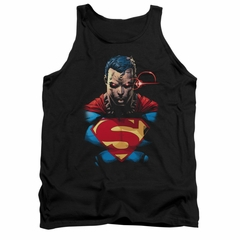 Superman Shirt Tank Top Angry Black Tanktop