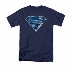 Superman Shirt Water Shield Navy T-Shirt