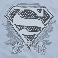 Superman Sketchy Crest Shirts