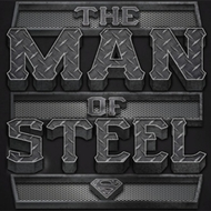 Superman Steel Text Shirts