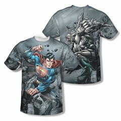 Superman Superman Vs. Doomsday Sublimation Shirt Front/Back Print