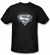 Superman T-shirt Biker Metal Awesome Adult Gothic Black Tee Shirt