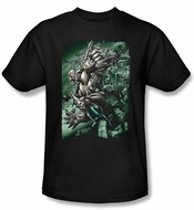 Superman T-shirt DC Comics Darkseid Doomsday Adult Black Shirt Tee