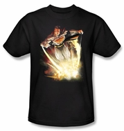 Superman T-shirt DC Comics Final Crisis Explosive Black Tee Shirt