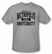 Superman T-shirt DC Comics Metropolis University Adult Grey Tee Shirt