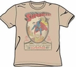 Superman T-shirt - Superman 1 Distressed Adult Sand Colored Tee