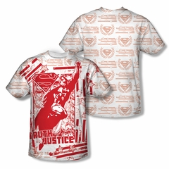 Superman Truth And Justice All Over Sublimation Shirt Front/Back Print