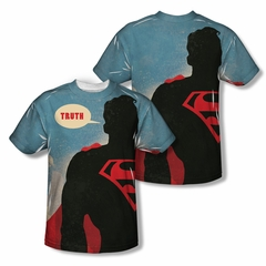 Superman Truth Sublimation Shirt Front/Back Print