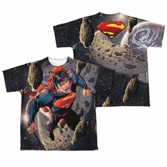 Superman Up Up Sublimation Kids Shirt Front/Back Print