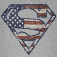 Superman Wartorn Flag Shield Shirts