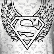 Superman Winged Shield Repeat Sublimation Shirts