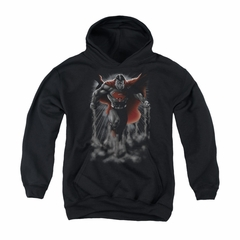 Superman Youth Hoodie Above The Clouds Black Kids Hoody