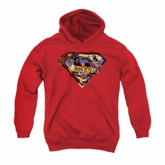 Superman Youth Hoodie American Way Red Kids Hoody