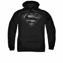 Superman Youth Hoodie Barbed Wire Black Kids Hoody