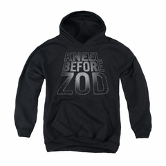 Superman Youth Hoodie Before Zod Black Kids Hoody