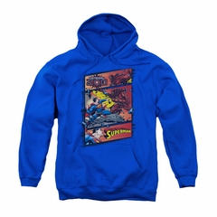 Superman Youth Hoodie Comic Strip Royal Blue Kids Hoody