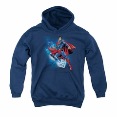 Superman Youth Hoodie Crystallize Navy Kids Hoody