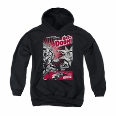 Superman Youth Hoodie Day Of Doom Black Kids Hoody