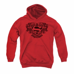 Superman Youth Hoodie Dragons Red Kids Hoody