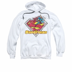 Superman Youth Hoodie Est 1939 White Kids Hoody