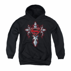 Superman Youth Hoodie Gothic Cross Black Kids Hoody