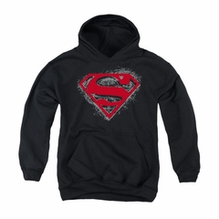 Superman Youth Hoodie Hardcore Noir Black Kids Hoody