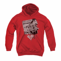 Superman Youth Hoodie Identity Red Kids Hoody