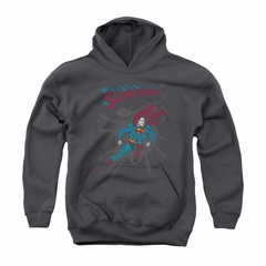Superman Youth Hoodie It Tickles Charcoal Kids Hoody