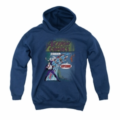 Superman Youth Hoodie Quick Change Navy Kids Hoody