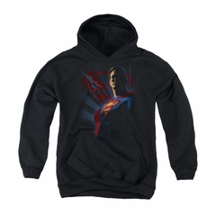 Superman Youth Hoodie Shadows Black Kids Hoody