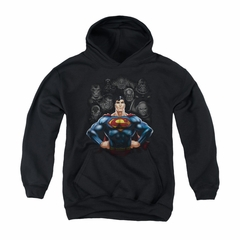 Superman Youth Hoodie Villians Black Kids Hoody