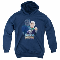 SuperMansion Kids Hoodie Titanium Rex Navy Blue Youth Hoody