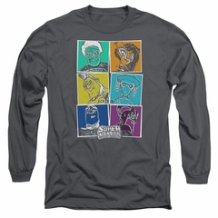 SuperMansion Long Sleeve Shirt Comic Charcoal Tee T-Shirt