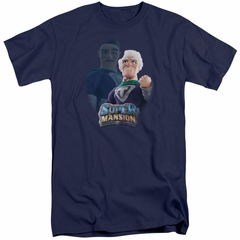 SuperMansion Shirt Titanium Rex Navy Blue Tall T-Shirt