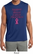Support Breast Cancer Awareness Dry Wicking Sleeveless Shirt