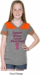 Support Breast Cancer Awareness Girls Football Tee