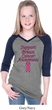 Support Breast Cancer Awareness Girls V-neck Raglan