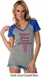 Support Breast Cancer Awareness Ladies Contrast V-neck